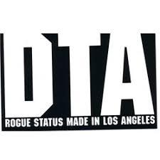 Rogue Status Cursive Dta Logo Sticker 4 5 Inches X 3 Inches