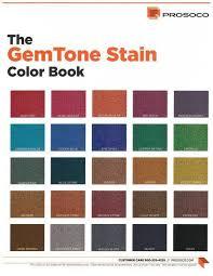 Prosoco Gemtone Color Chart Prosoco Gemtone Stain Concrete Color Dye