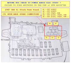 mazda b2200 fuse box diagram mazda manual repair wiring and engine 1987 fuse panel 5 extra open spade connectors 1g crx red