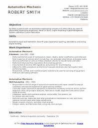 Automotive Engineer Resumes Automotive Mechanic Resume Samples Qwikresume