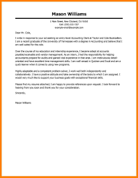10 Sample Accounting Cover Letters Offecial Letter