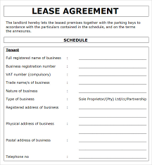 Simple Rental Agreement Template Standard Lease Agreement Template