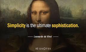 Leonardo Da Vinci Quotes Beauteous Leonardo Da Vinci Quote Simplicity Is The Ultimate Sophistication