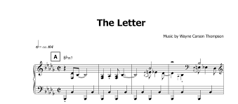 the letter noten preview