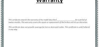 warranty template word free warranty template aconcept co