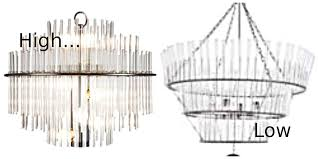 high low glass rod chandelier