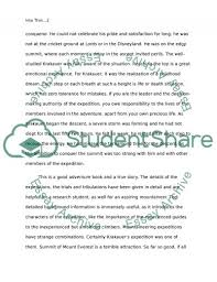 into thin air essay example topics and well written essays  into thin air essay example