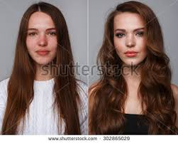 woman before and after makeup real result without retouching