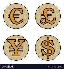 Currency Symbols Royalty Free Vector Image Vectorstock