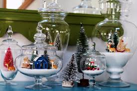 snow jars christmas display