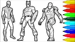 Most popular social media icons twitter pinterest instagram facebook whatsapp youtube linkedin and others on colorful brushs. Spiderman Iron Man Captain America Wolverine Superman Coloring Pages Superheros Coloring Pages Youtube