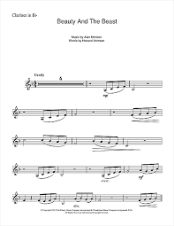 beauty and the beast sheet music alan menken beauty and the beast clarinet sheet music pinterest