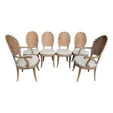 vintage italian barcelona style dining. vintage set of 6 carved scalloped shell back italian grotto style dining chairs barcelona r