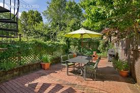 The patio at 326 10th Street in Park Slope.