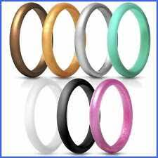 Thunderfit Thin And Stackable Silicone Rings 8 Pack Wedding