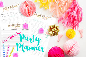 Party Planner 8 5 X 11 Letter Size Party Planner Inserts