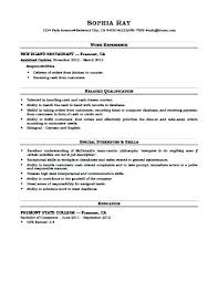 Resume For Grocery Store Cashier Duties And Responsibilities Resume