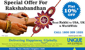 get ready to send rakhi gifts or sweets to your brother or sister staying in usa uk worldwide with special offer starting on ing monday