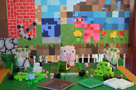 Minecraft Party Decorations Kids Room Design Birthday Place Party Decoration Ideas Beautiful