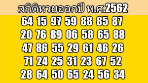 สถิติหวยออกปีพ.ศ.2562 งวดประจำวันที่1พฤศจิกายน2562 - YouTube