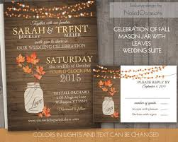 362 best fab events and weddings images on pinterest Diy Wedding Invitations Fall Theme rustic fall wedding invitation set fall leaves mason jar wedding invite and rsvp string lights country wedding diy digital printable Fall Color Wedding Invitations