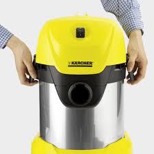 Sản xuất Romania) Máy hút bụi khô và ướt Karcher WD 3 Premium công suất  1000w - thùng thép chống gỉ - Máy hút bụi