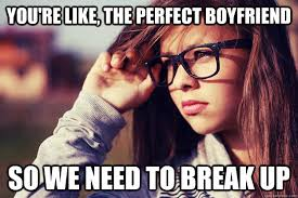 you're like, the perfect boyfriend so we need to break up ... via Relatably.com