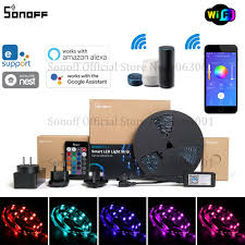 Light Strips That Work With Alexa Us 10 99 30 Off Sonoff L1 Smart Led Light Strip Dimmable Waterproof Wifi Flexible Rgb Strip Lights Work With Alexa Google Home Dance With Music In
