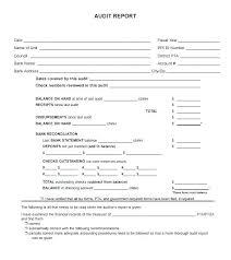 Internal Audit Report Template Sample Templates Free Hr Word