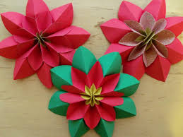 Folding Paper Flower Origami How To Fold A Poinsettia Flower Origami Folding Paper