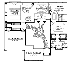 cervantes santa fe style home plan 051d 0350 house plans and more House Plans Courtyard santa fe house plan first floor 051d 0350 house plans and more house plans courtyard garage