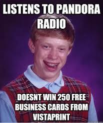listens to pandora radio doesnt win 250