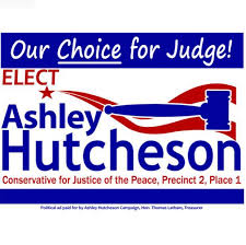 Ashley Hutcheson for Justice of the Peace 2-1 - Home | Facebook