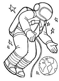 Small Picture An Astronaut in the Spacesuit in the Orbit Coloring Page