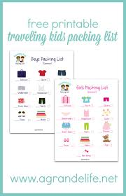 list for traveling free printable traveling kids packing list a grande life