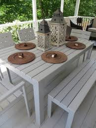 pretty outdoor dining table with benches sets 9 3159 18