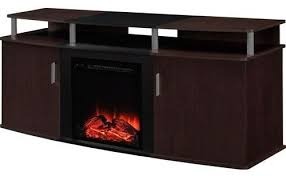 electric fireplace tv stand in cherry black wood finish holds up to 70 tv