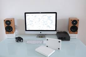 diy desktop speaker stands