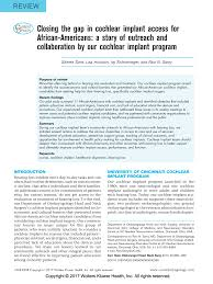 Closing the gap in cochlear implant access for African-Americans: a story  of outreach and collaboration by our cochlear implant