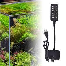 28 led aquarium fish tank clamp clip lamp light white blue color lighting tb