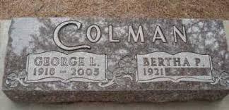 COLMAN, BERTHA PAULINE - Holt County, Nebraska | BERTHA PAULINE COLMAN -  Nebraska Gravestone Photos