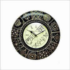 isha art wood handicrafts wall clocks