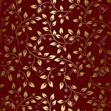Brown Background Brown Background With Golden Leaves Seamless Vector Royalty Free