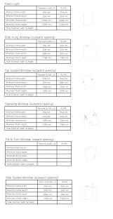 Andersen Fixed Window Size Chart Egress Window Sizes Chart Netairoy Com