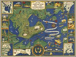 a map of portland maine and some places thereabout copyright