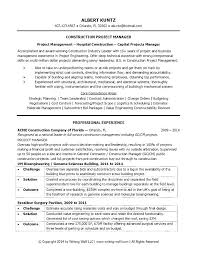 Resumes For Construction It Manager Resume Example It Project