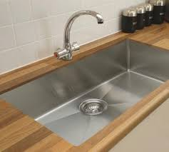 outstanding metal under mount kitchen sink with gleaming brushed nickel faucet design