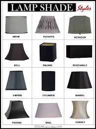 styles of lamp shades shade stellar interior design ann 2
