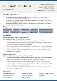 Software Engineering Resume Template Free Developer Cv Engineer