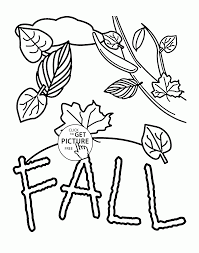 Fall Coloring Pages For Kids Fall